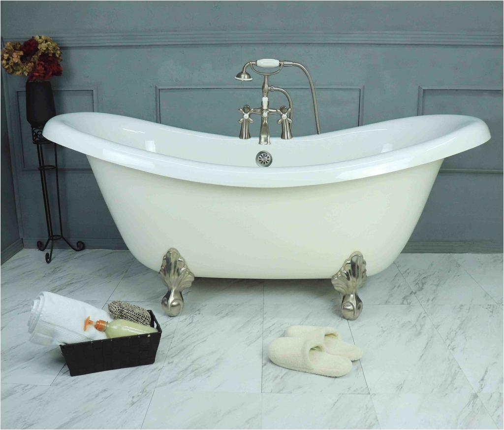 "Where to Buy Clawfoot Bathtubs 67"" Clawfoot Double Slipper Bathtub – American Bath Factory"