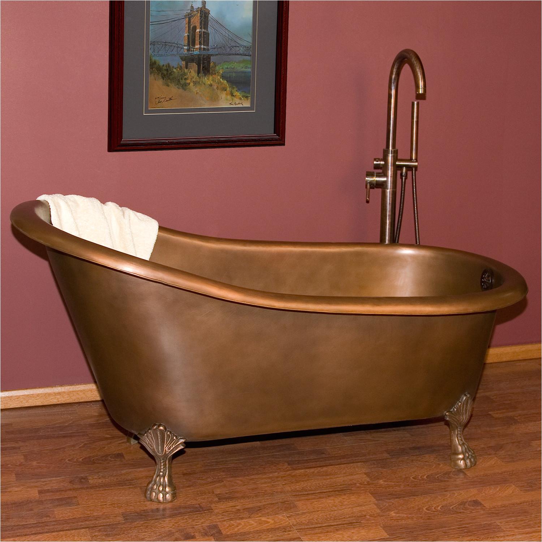 norah victorian copper slipper tub on claw feet
