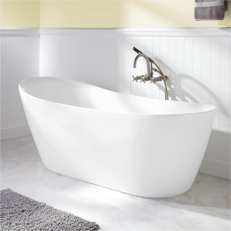 "Where to Buy Freestanding Bathtub 66"" Ennis Acrylic Freestanding Slipper Tub Bathroom"