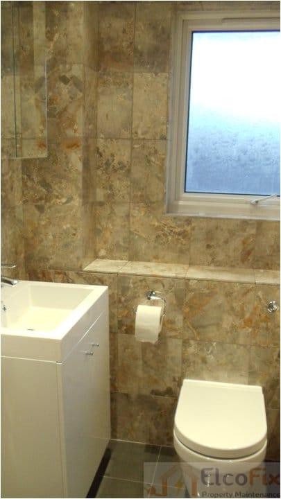 plete bathroom renovation natural stone marble tiles whirlpool bath thamesmead se28