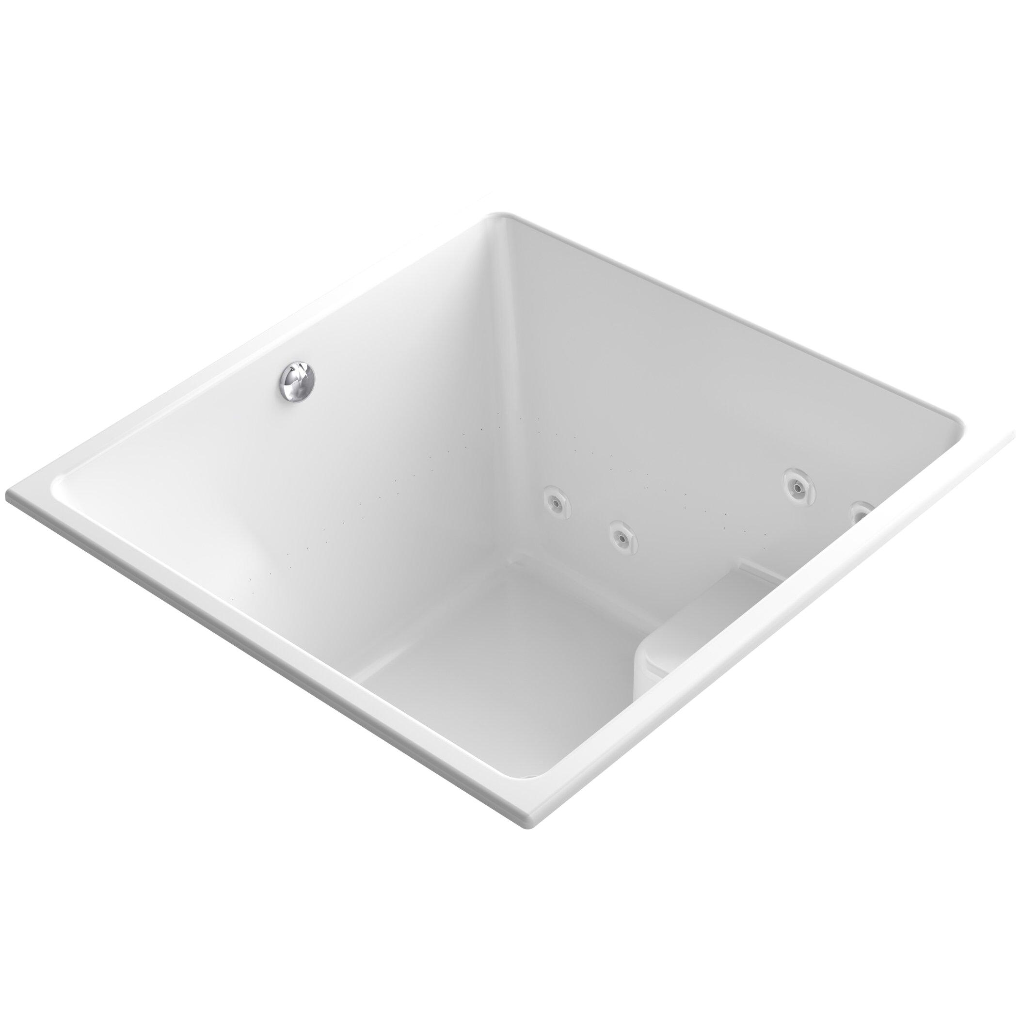 Underscore 48 x 48 Drop in Whirlpool and BubbleMassage Air Bathtub K 1969 XH2G KOH
