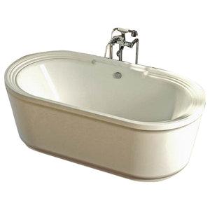 venzi padre 34x67 oval freestanding whirlpool jetted bathtub center drain bathtubs