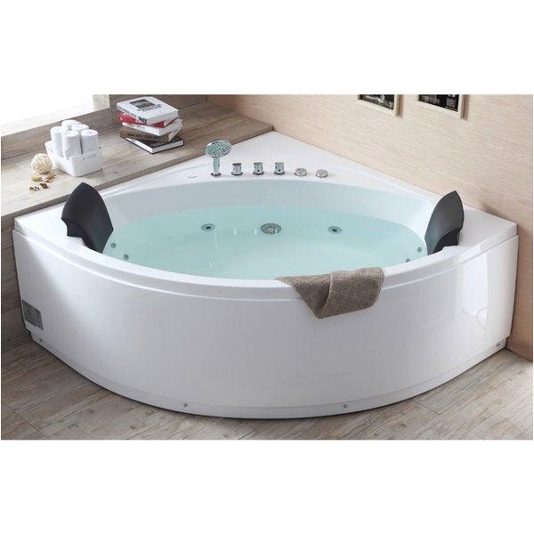Whirlpool Bathtub Bacteria Shop Eago Am200 5 Foot Rounded Modern Double Seat Corner