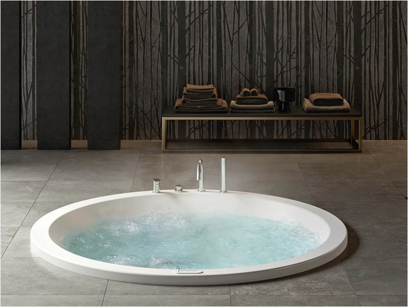 2 seater whirlpool built in bathtub ethos round 180