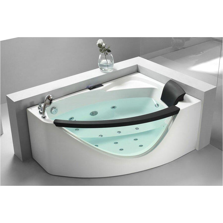 EAGO 59 x 39 Corner Whirlpool Tub AM198 L AM198 R EAGO1050