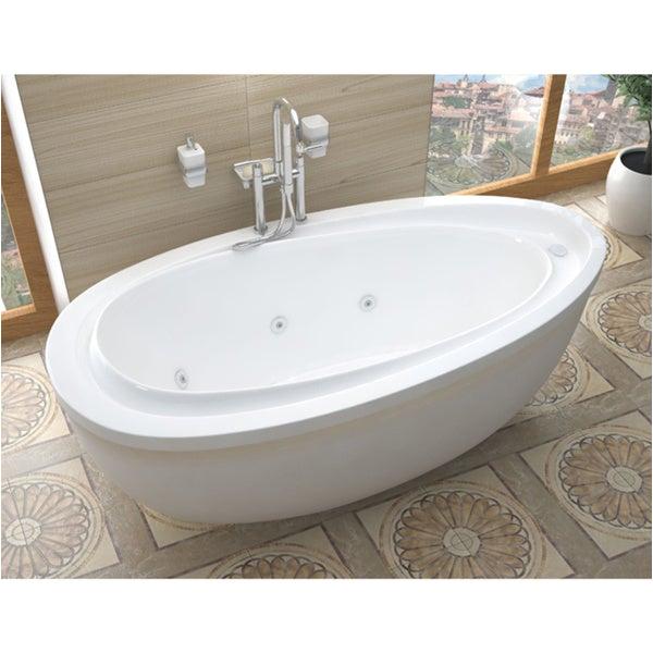 Whirlpool Bathtub with Jets Shop atlantis Whirlpools Breeze 38 X 71 Oval Freestanding