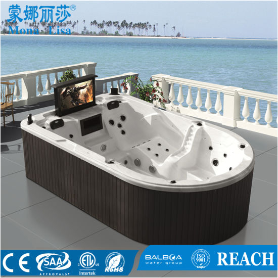 Whirlpool Bathtub with Tv China Monalisa Outdoor Whirlpool Jacuzzi Hot Tub Spa with