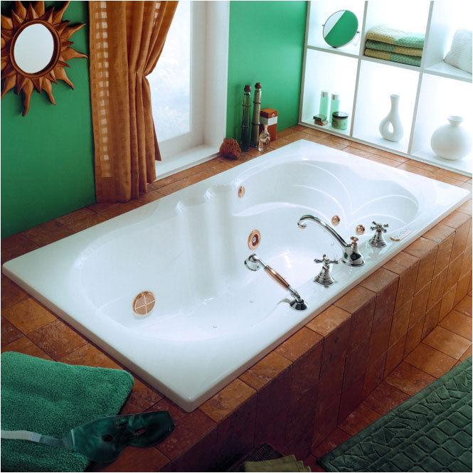 Whirlpool or Bathtubs Neptune Helena Modern 66×34 Square Bath Tub with Whirlpool
