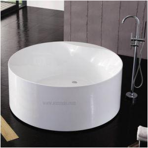 Whirlpool Round Bathtub China Portable Round Deep Whirlpool Massage Bathtub