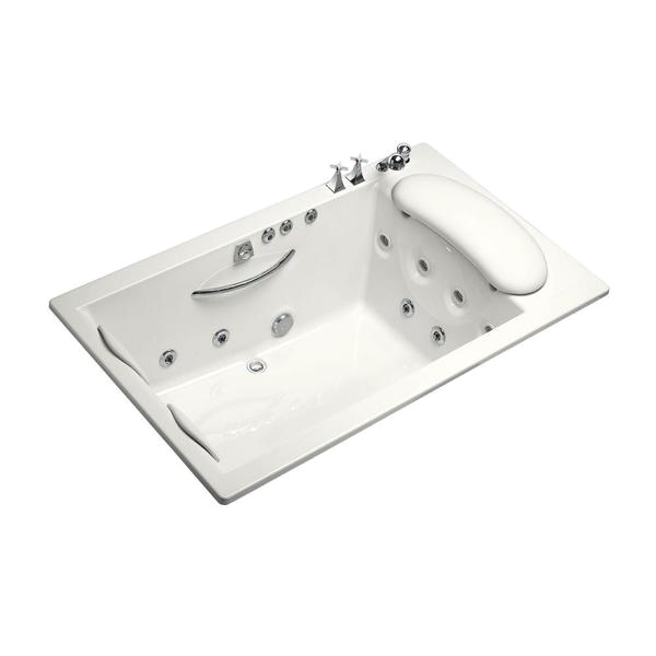 White Center Drain Bathtub Shop Kohler Riverbath Quadrangle 3 83 Foot Whirlpool Tub
