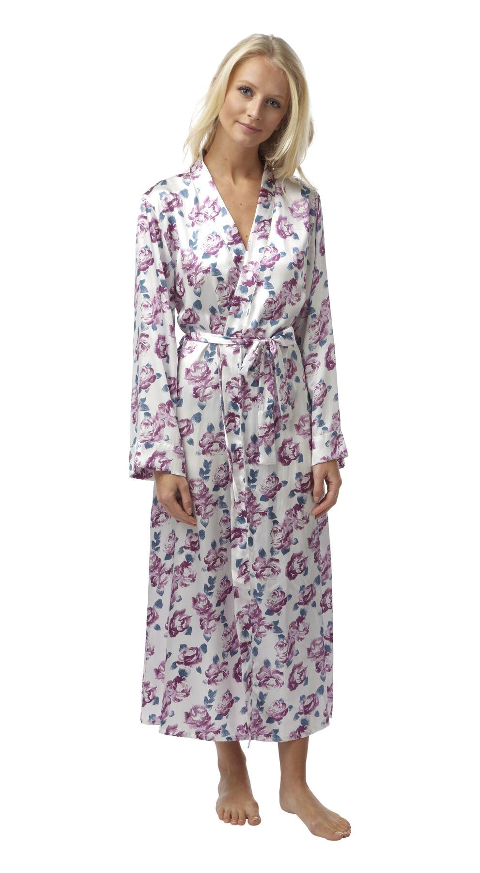 Women's Bathrobe Price Luxury Women S Floral Satin Lace Gown Designer Robe Wrap