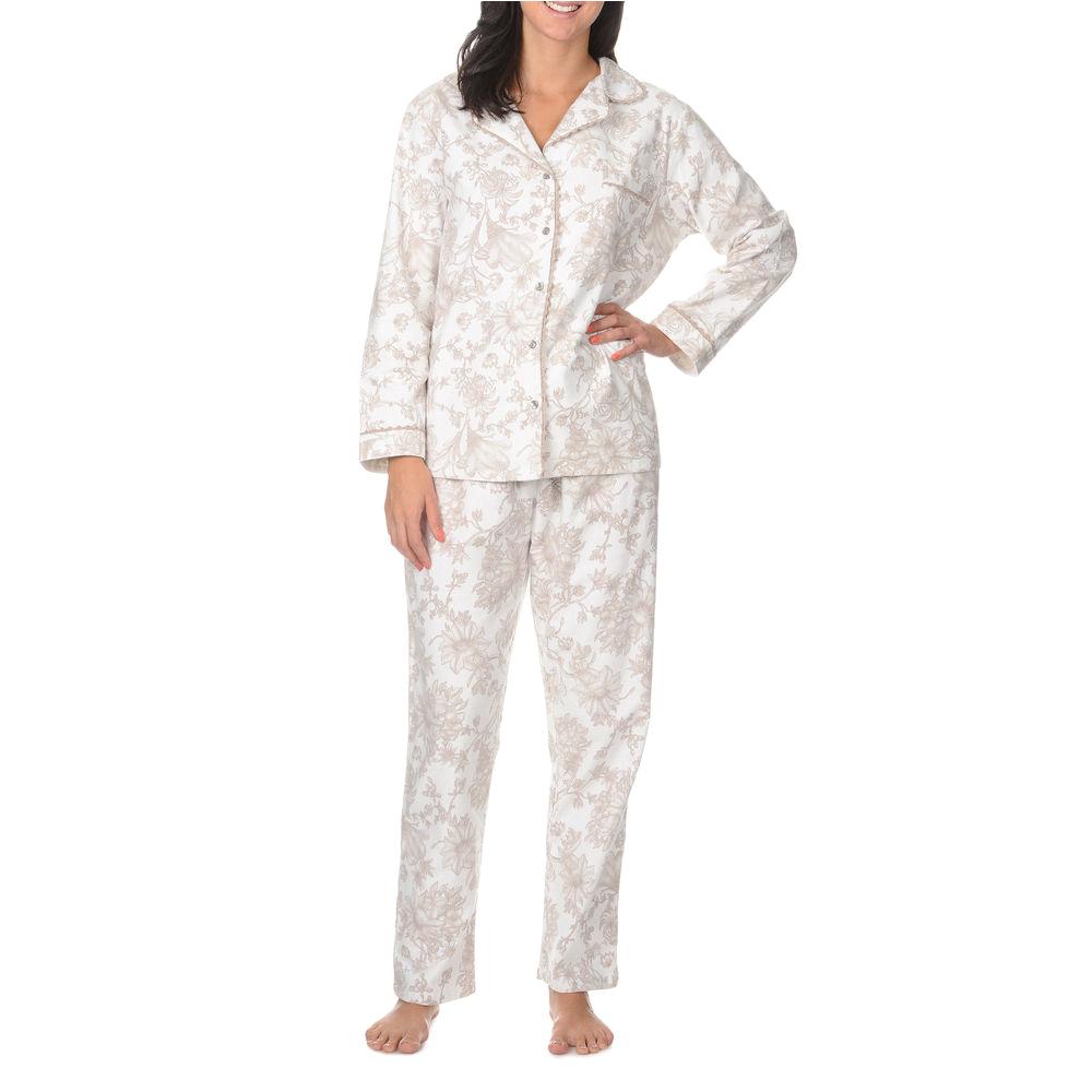 Women's Bathrobes for Sale La Cera Women S Long Sleeve Floral Print Pajama Set