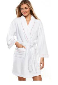 Women's Bathrobes On Sale Cotton Women S White Short Spa Gown Bath Robe W