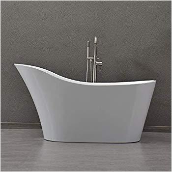 """Woodbridge 59 Acrylic Freestanding Bathtub 69"""" Acrylic Double Slipper Tub """"gasconade"""" Amazon"""