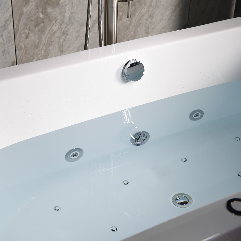 """Woodbridge 67 Deluxe Whirlpool & Air Bubble Freestanding Bathtub Woodbridge 67"""" X 32"""" Whirlpool Water Jetted and Air Bubble"""