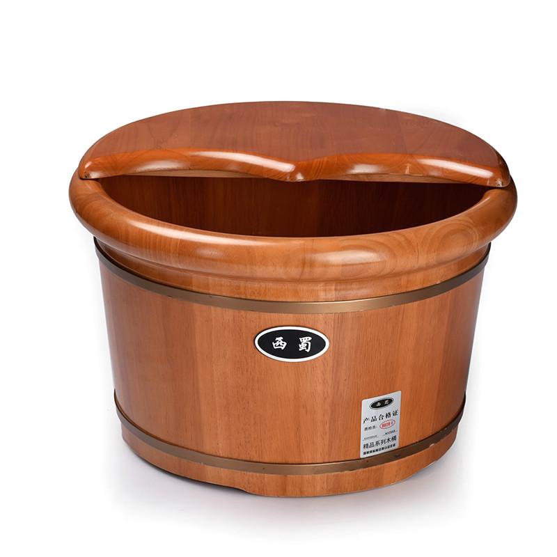 Wooden Foot Bathtub Foot Bath Tub Feet Oak Foot Barrel with Wooden Feet Cover
