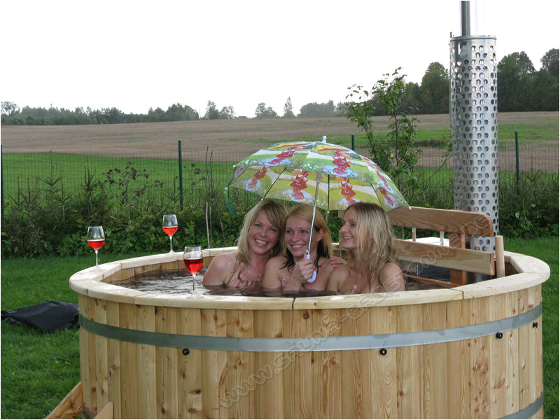 Wooden Outdoor Bathtub Wooden Hot Tub Outdoor Bath Jacuzzi Spa Garden Pool