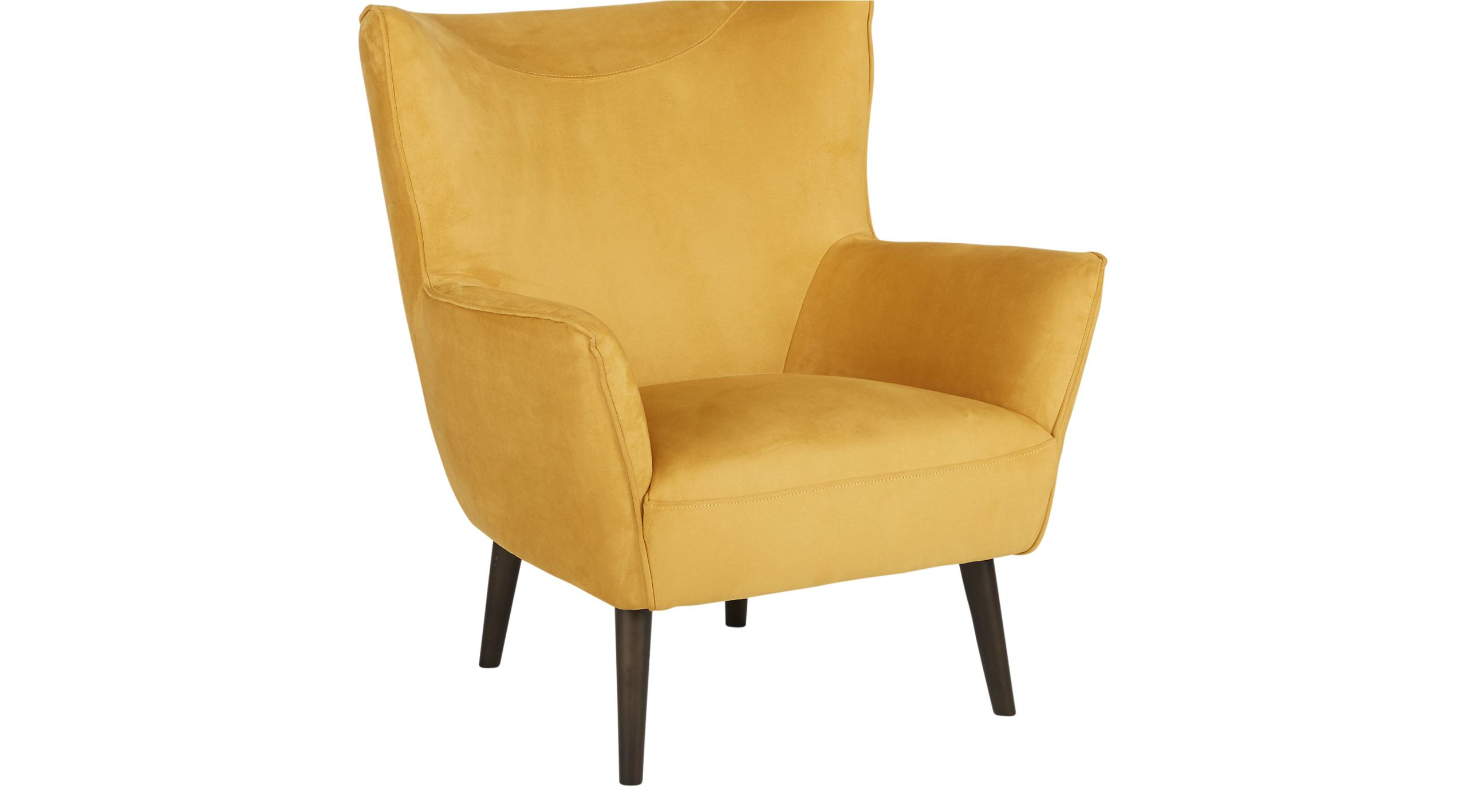 hansel yellow accent chair