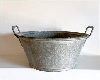 antique french zinc tub slipper tub