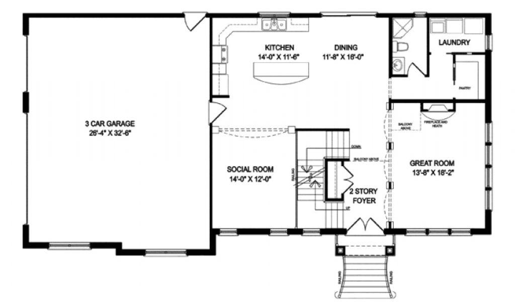 16×20 2 Story House Plans Single Level Floor Plans Luxury 2 Story