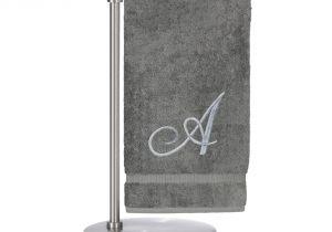 27×54 Bathtub Silver Script Monogrammed Turkish 27×54 Inch Bath towel Products