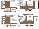 3 Bedroom 2 Bath 5th Wheel Titanium Fifth Wheel Floor Plans Luxury Travel Trailers Floor Plans