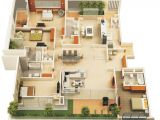 3 Bedroom 3 Bathroom Apartments In orlando 50 Four 4 Bedroom Apartment House Plans Pinterest Bedroom