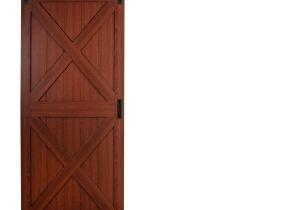 36 X 84 Interior Slab Doors Cherry solid Core Crossbuck Barn Interior Door Common 36 In X 84
