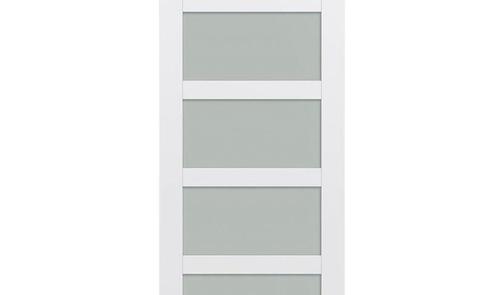 36 X 96 6 Panel Interior Door Jeld Wen Moda Primed 5 Panel Frosted