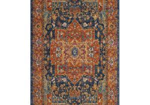3×5 Bathroom area Rugs Safavieh Evoke Livia Blue orange Rectangular Indoor Machine Made