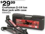 4 ton Floor Jacks for Sale Craftsman 2 1 4 ton Floor Jack W Case at Sears Black