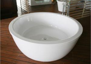 48 Freestanding Bathtub Kalantos Round Bathtub Designer Bathroom Designer Tub