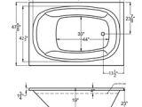 48 Jetted Bathtub Caravaggio 48 X 72 Rect Drop In Bathtub with Whirlpool