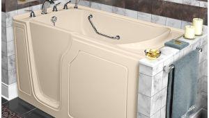 "48 Whirlpool Bathtub Dignity 48"" X 28"" Whirlpool and Air Jetted Walk In Bathtub"