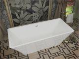 5 Center Drain Bathtub Arden 5 5 Ft Acrylic Center Drain Freestanding Bathtub In