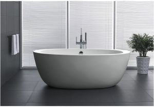 5 Foot Freestanding Bathtub Shop Anzzi Yield Series 5 58 Ft Freestanding Bathtub In