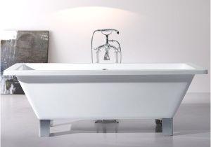 5 Foot Freestanding Bathtub Shop Modern Freestanding 71 Inch Acrylic Tub with Square