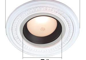 5 Inch Recessed Light Trim Spot Light Ring White Trim 5 Id X 9 Od Mini Medallion
