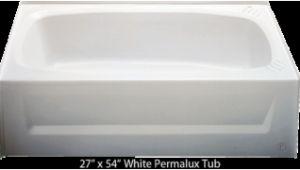 54 Center Drain Bathtub Bathtub 27 X 54 White Permalux Center Drain Tub