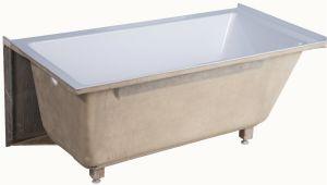 "54 Inch Acrylic Alcove Bathtub Fine Fixtures Apron Acrylic 54"" X 30"" Alcove soaking"