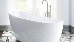 """54 Inch Bathroom Tub Woodbridge 54"""" Acrylic Freestanding Bathtub Contemporary"""