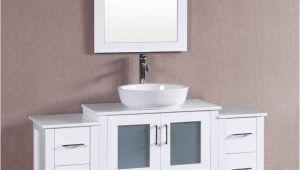 54 Inch Bathroom Vanity Canada Bosconi 54 Inch W X 18 Inch D Bath Vanity In White with