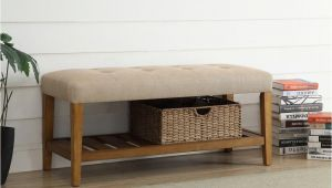 54 Inch Bench Cushion Acme Furniture Charla Beige and Oak Storage Bench 96682 the Home Depot