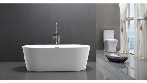 54 Inch Freestanding Bathtub Shop Helixbath Agora Freestanding White Acrylic 59 Inch