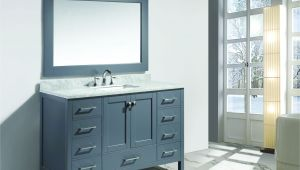 "54 Inch Gray Bathroom Vanity Design Element London 54"" Single Sink Vanity Set In Gray"