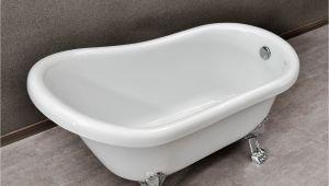 """54 Inch Metal Bathtub Woodbridge 54"""" Slipper Clawfoot Bathtub with solid Brass"""