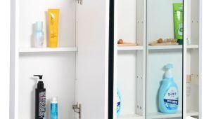 "54 Inch Wide Bathroom Mirror 3 Mirror Door 36"" 20"" Wide Wall Mount Mirrored Bathroom"