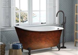 58 Freestanding Bathtub Cambridge Plumbing Cast Iron Clawfoot 58 X 30