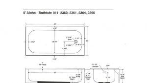 6 Foot Bathtub Width Bootz Industries Aloha 5 Ft Right Hand Drain soaking Tub