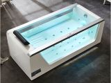 6 Foot Jetted Bathtub Shop 6 Ft Clear Rectangular Acrylic Whirlpool Bathtub